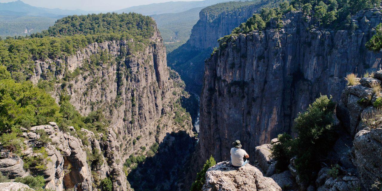 Tazı Kanyonu'na Kuş Bakışı
