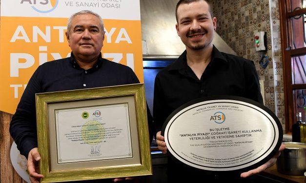 "ATSO'dan ""Antalya Piyazı""na Sertifika"