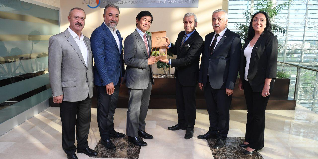 Japon Büyükelçi Miyajima ATSO'yu Ziyaret Etti