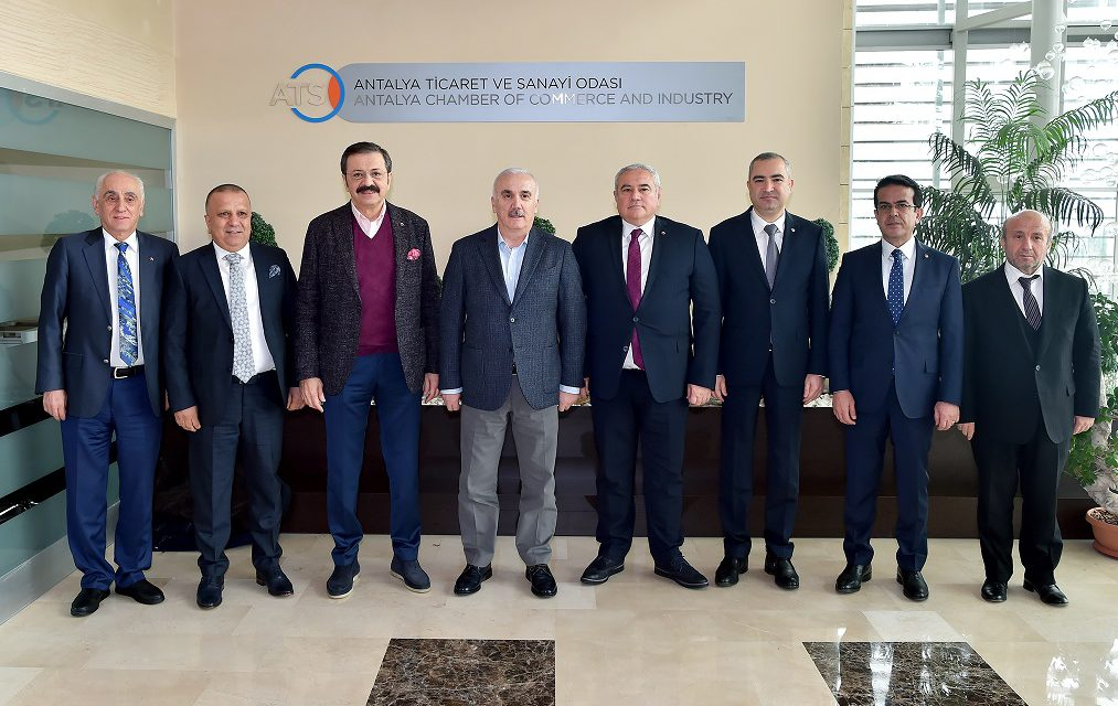 TOBB Başkanı Hisarcıklıoğlu ATSO'yu Ziyaret etti