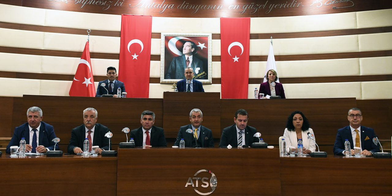ATSO Kasım Ayı Meclis Toplantısı Yapıldı